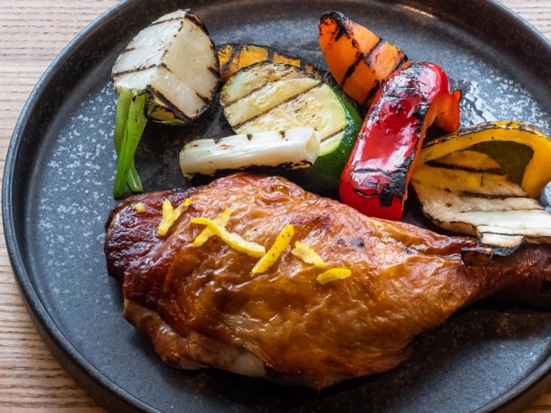 Oven Baked Shiretoko Chicken Leg With Yuzu