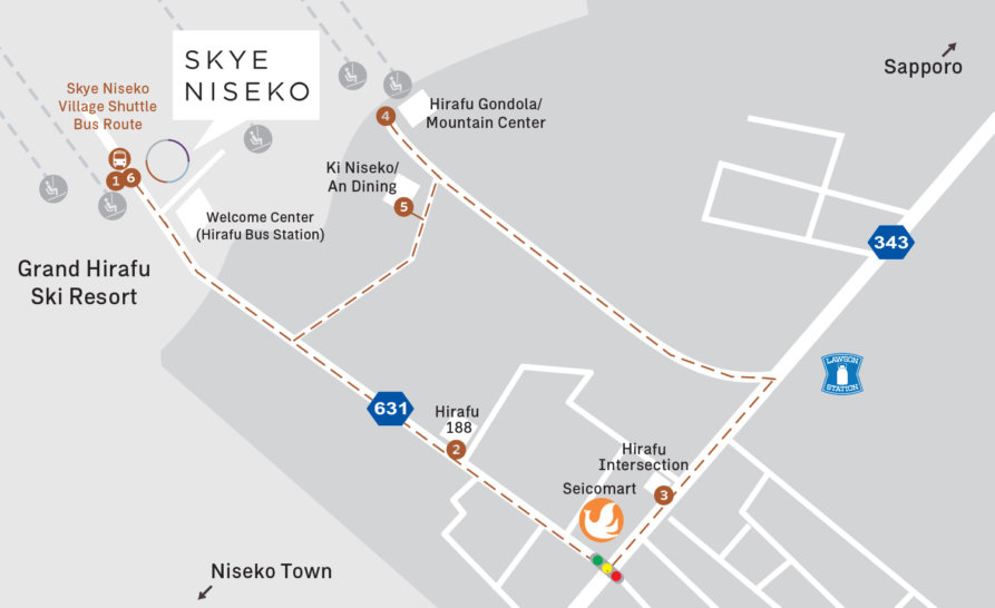 Skye Niseko Map En