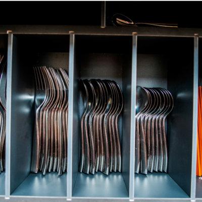 Drawers full of premium cutlery