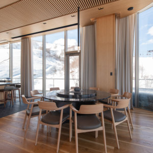 Watch the skiers hit the slopes as you enjoy your breakfast.