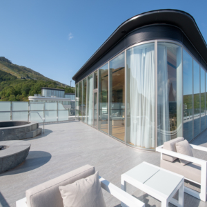 The Yotei West Penthouse balcony is expansive with amazing views.
